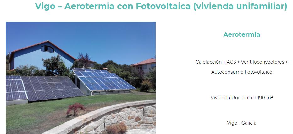 Aerotermia con fotovoltaica en Vigo